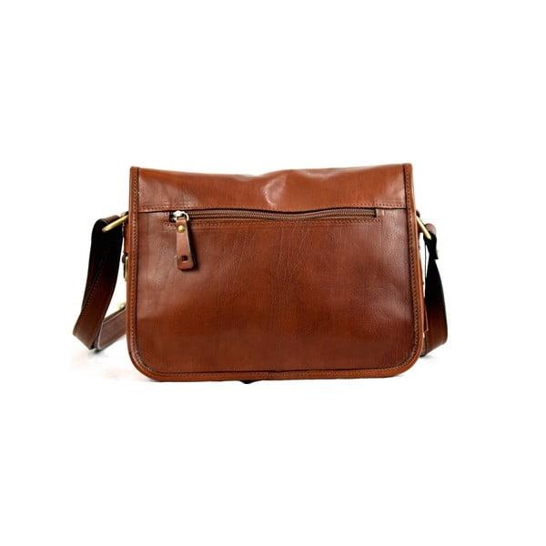 Kožená kabelka Santo Croce M6807 Brown