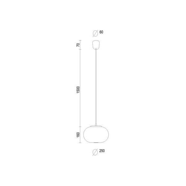 Bielo-medené svietidlo s čiernym káblom a medenou objímkou Sotto Luce Dosei