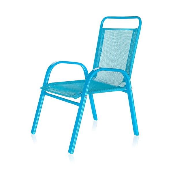 Detská záhradná stolička Kids, modrá
