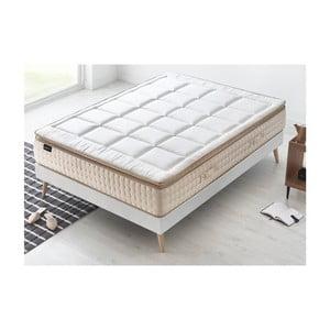 Biely matrac s krémovým okrajom Bobochic Paris Cashmere, 160 x 200 cm