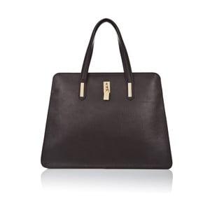 Čierna kožená kabelka Markese Tasia