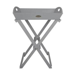 Sivý rozkladací drevený stojan na kvetiny Esschert Design