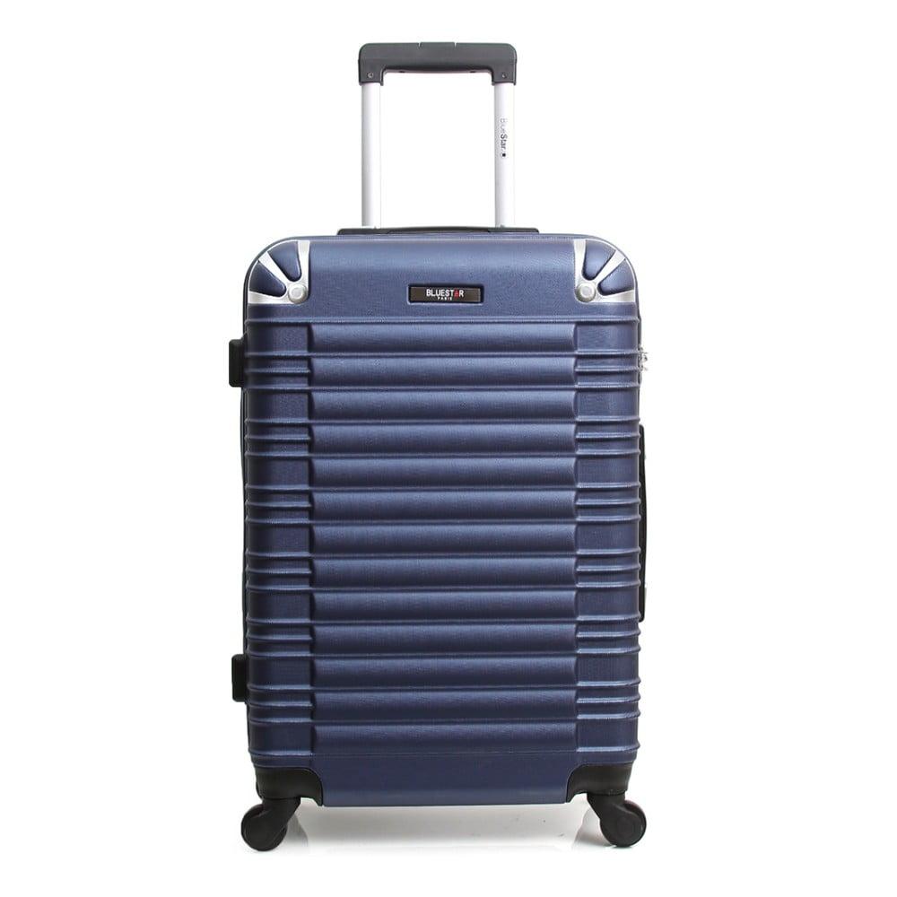 Tmavomodrý cestovný kufor na kolieskach Blue Star Lima, 60 l