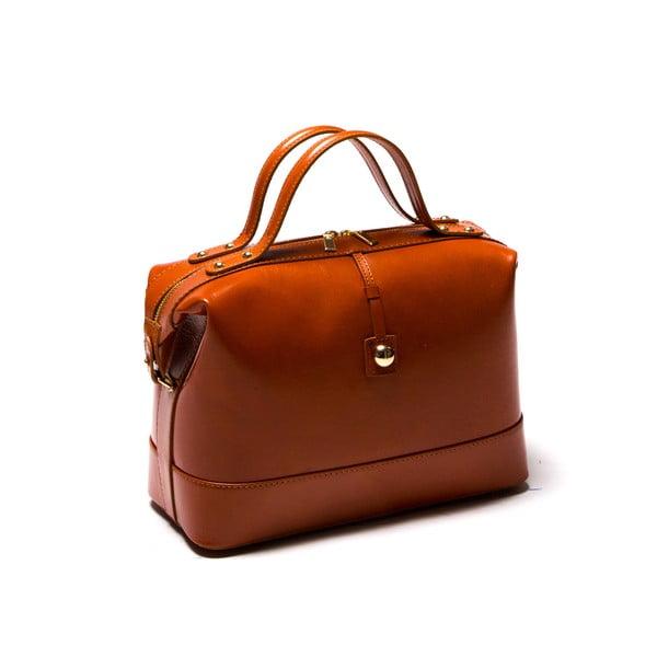 Kožená kabelka Anna Luchini 55 Cognac