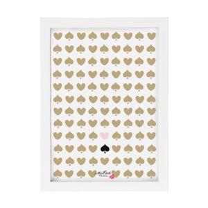 Obraz Miss Étoile Hearts & Spades,25x33cm