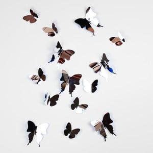Trojrozmerné samolepky motýlikov, zrkadlové