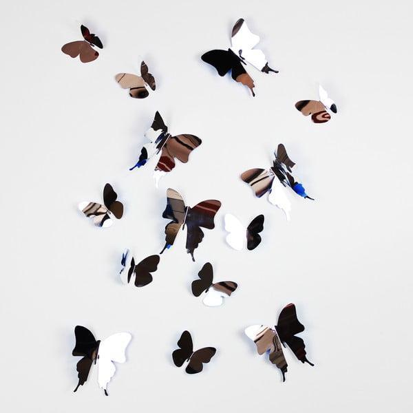 Trojrozmerné samolepky motýlikov Walplus 3D Butterflies II