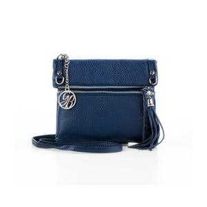 Kožená kabelka Roberto, tmavo modrá