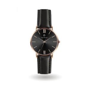 Pánske hodinky s koženým remienkom Paul McNeal Basso
