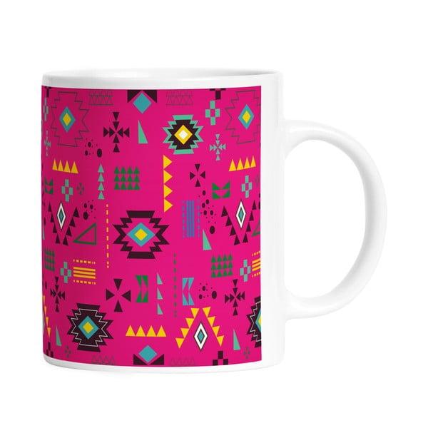 Keramický hrnček Pink Aztec, 330 ml