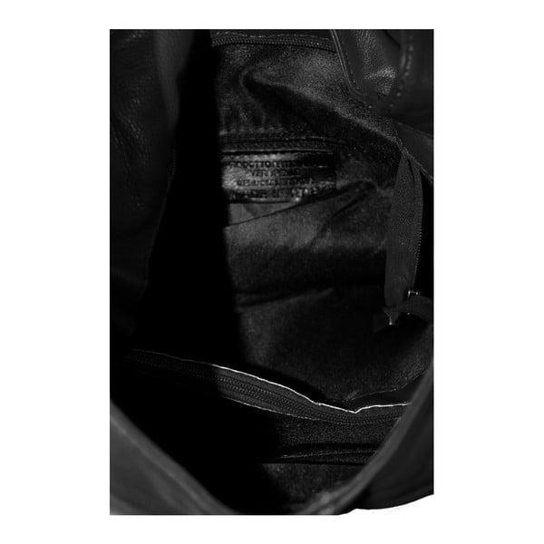 Čierna kožená kabelka Michela