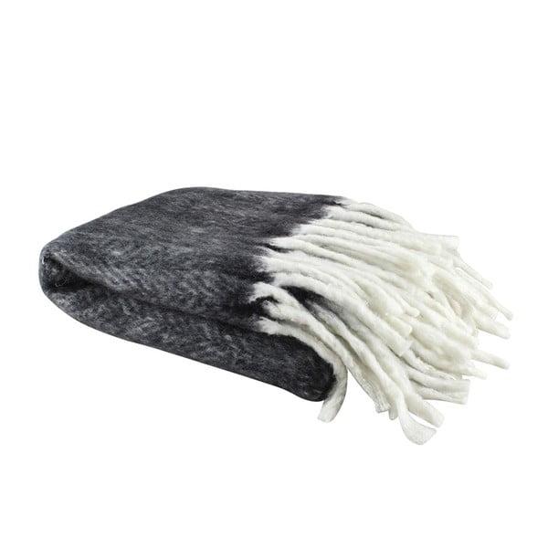 Vlnený pléd Wool Black, 130x160 cm