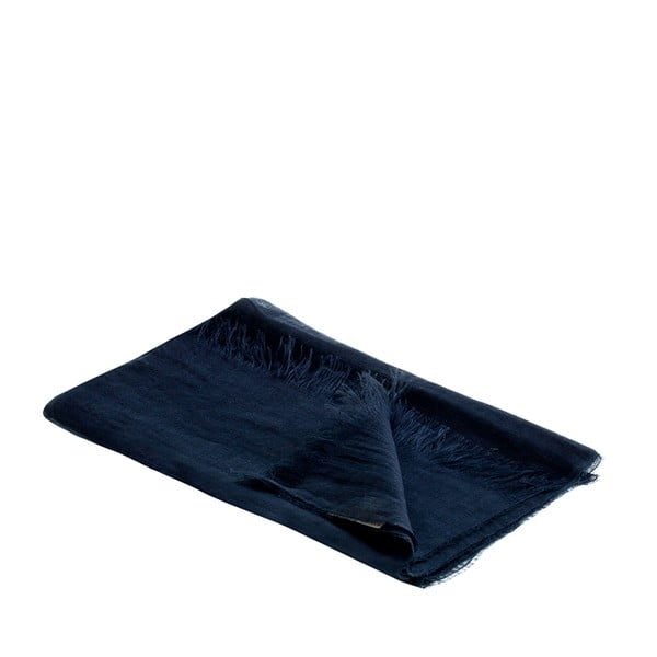 Ľanová šatka Luxor 65x200 cm, tmavomodrá