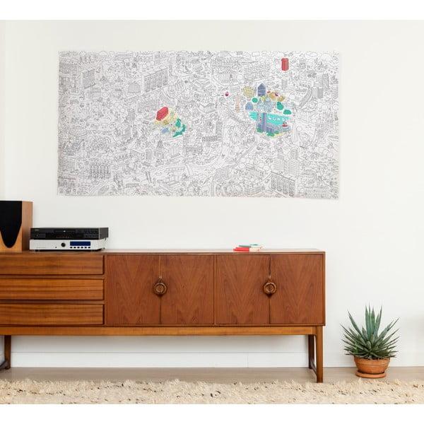 Maľovanka OMY London, XXL (180 x 100 cm)