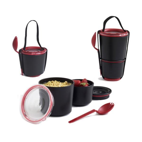 Desiatové misky  Lunch Pot, čiernočervené