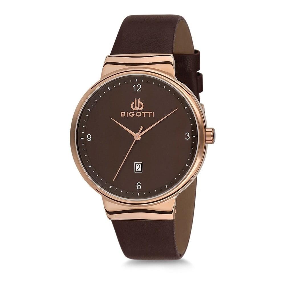 a3dad56215 Čierne pánske hodinky s koženým remienkom Bigotti Milano Essence