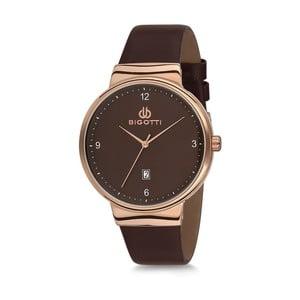 Čierne pánske hodinky s koženým remienkom Bigotti Milano Essence