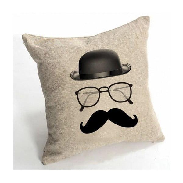 Obliečka na vankúš Le Moustache, 45x45 cm