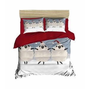 Vianočné obliečky na dvojlôžko s plachtou Thierry, 200×220 cm