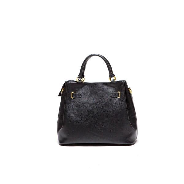 Čierna kožená kabelka Lupe