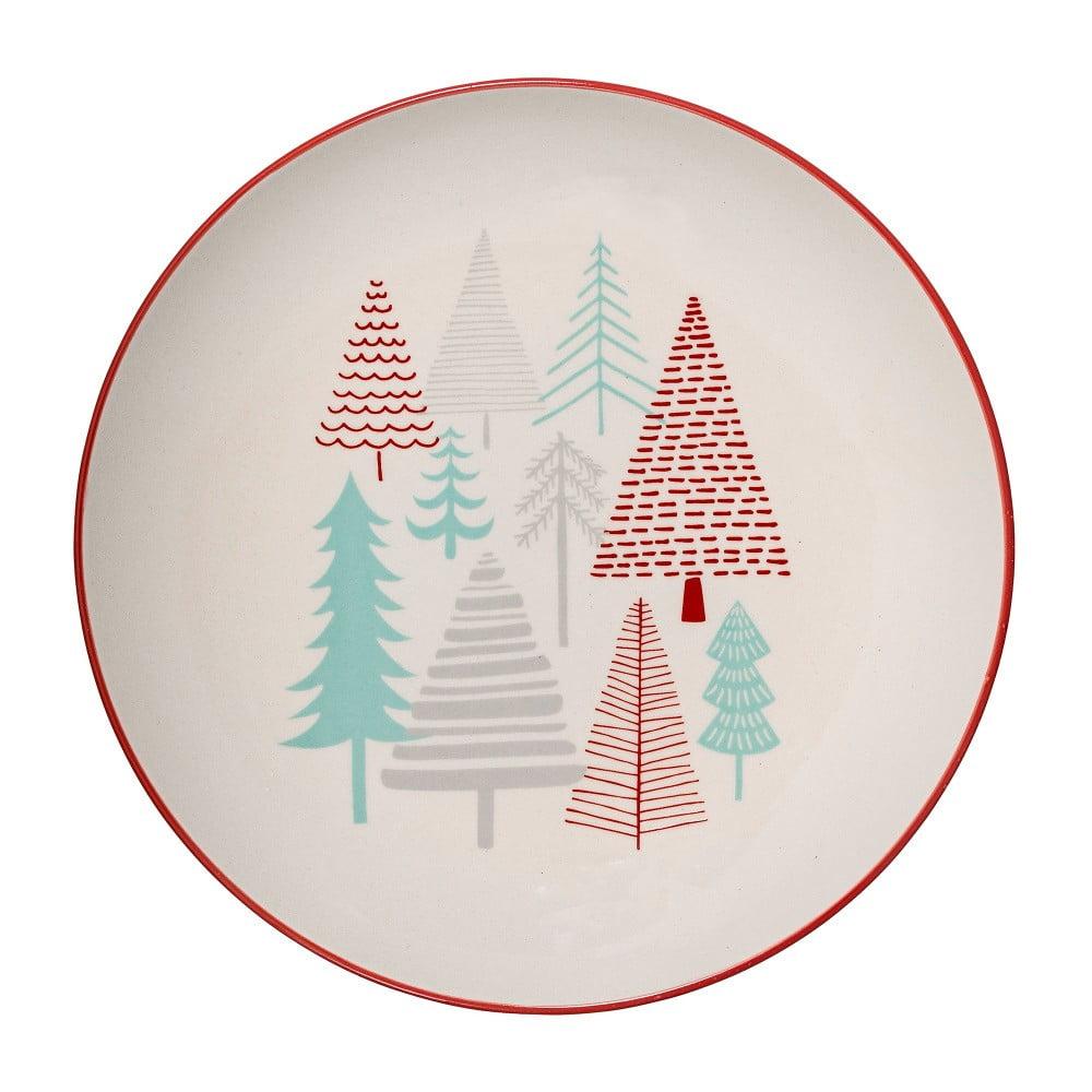 Biely kameninový tanier Bloomingville Lucia, ⌀ 25 cm