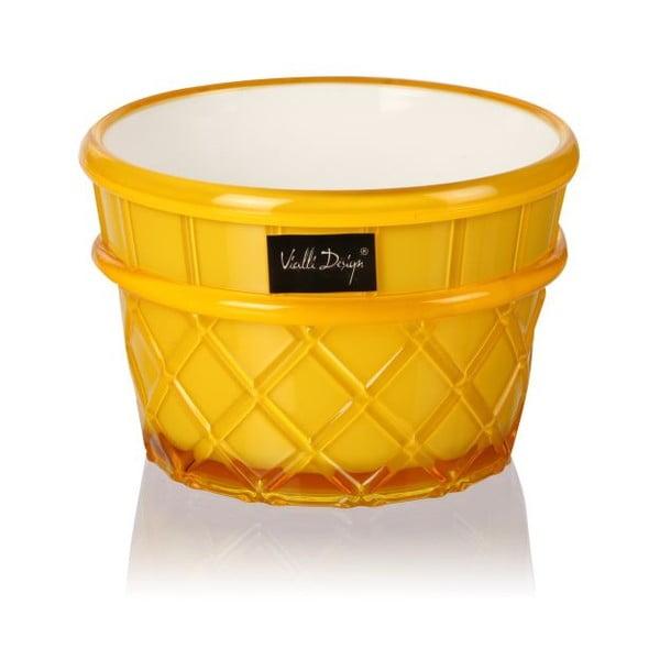 Žltý pohár na dezert Vialli Design Livio, 266 ml