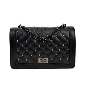 Čierna kožená kabelka Isabella Rhea Domenico