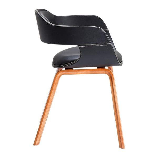 Jedálenská stolička s tmavou drevenou podnožou Kare Design Costa