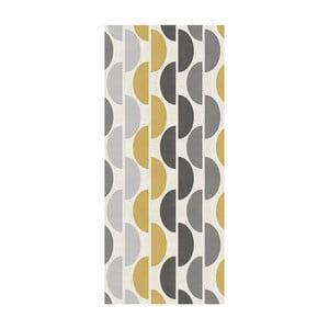 Behúň Floorita Halfmoon Grey Ochre, 60 × 190 cm