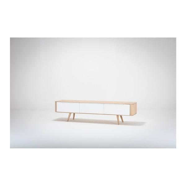 Televízny stolík z dubového dreva Gazzda Ena, 180 x 42 x 45 cm