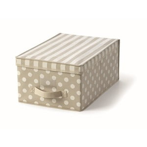 Béžový uložný box s vrchnákom Cosatto Trend, 30x45cm