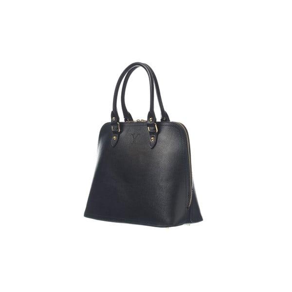 Kožená kabelka Fan Bag Black
