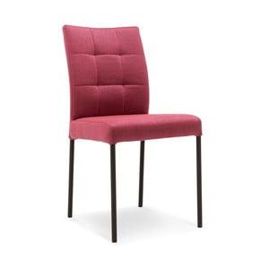 Tmavoružová jedálenská stolička s čiernymi nohami Jakobsen home Inari