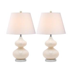 Sada 2 stolových lámp s perleťovou základňou Safavieh Gabriel