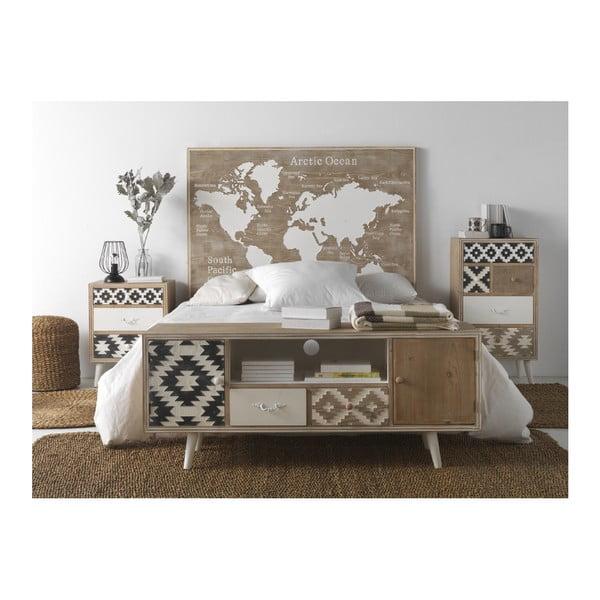 Drevené posteľové čelo Geese Rustico World, 100 × 110 cm