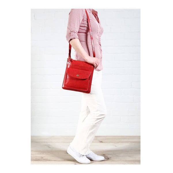 Dámska kožená taška Lilia Cranberry