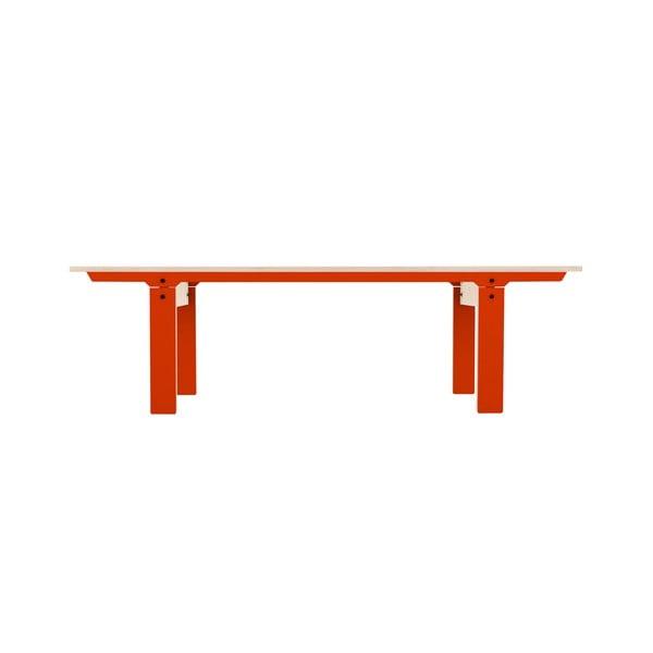 Oranžová lavica na sedenie rform Slim 04, dĺžka 165 cm