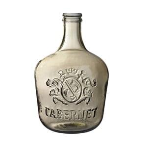 Sklenená váza Cabernet, 42 cm, hnedá
