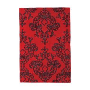 Červený koberec Asiatic Carpets Harlequin Oldschool, 150 x 90 cm
