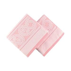 Sada 2 ružových uterákov Hurrem, 50x90cm