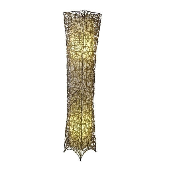 Béžová voľne stojacia lampa Naeve Korbstehleuchte