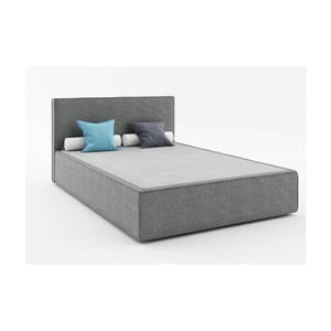 Tmavosivá dvojlôžková posteľ Absynth Mio Soft, 140×200cm