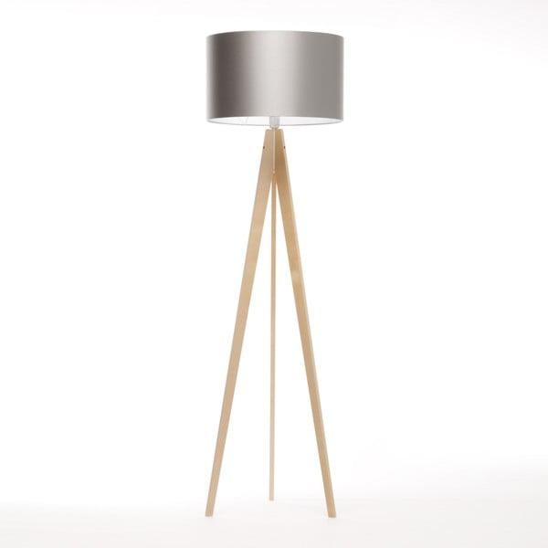 Strieborná stojacia lampa 4room Artist, breza, 150 cm