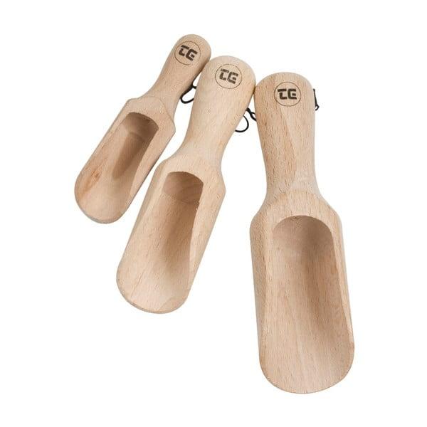 Sada 3 kuchynských odmeriek z bukového dreva T&G Woodware