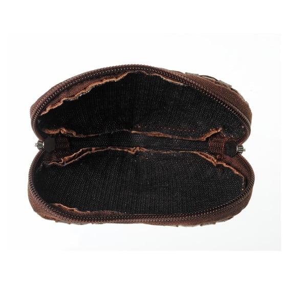 Semišová kapsička na mince Heart Dark Brown