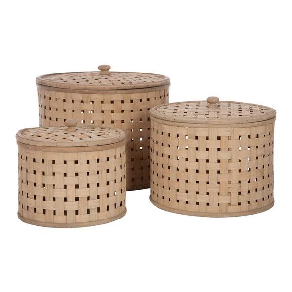 Sada 3 košov s vekom Bamboo Nature