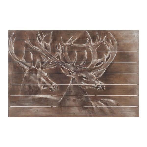 Nástenná dekorácia J-Line Deer Wood