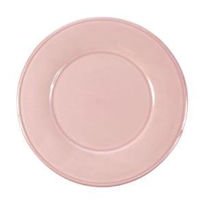 Ružový kameninový tanier Côté Table Constance, ⌀ 28,5 cm