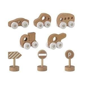 Set 8 detských hračiek z bukového dreva Bloomingville Toy Car