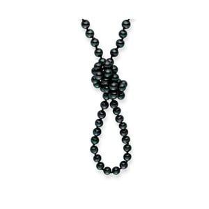 Perlový náhrdelník Mystic Grey, 120 cm